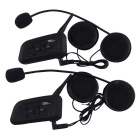 VNETPHONE V4-2-US Bluetooth Motorcycle Intercom for 4 Riders (Pair)