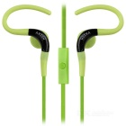 KEEKA Universal 3.5mm Earhook Earphone w/ Mic for IPHONE / Samsung / HTC + More - Black + Green