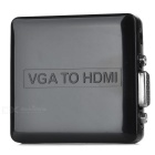VGA to HDMI 1080P HD Converter w/ Micro USB, 3.5mm - Black