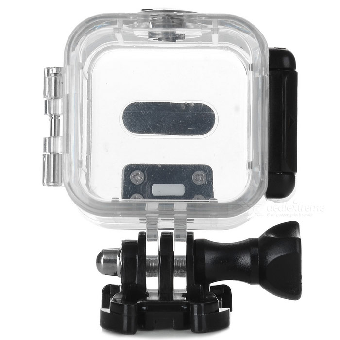 Waterproof Camera Case w/ Holder for Gopro Hero4 Session - TransparentBags &amp; Cases<br>Form ColorBlack + TransparentQuantity1 DX.PCM.Model.AttributeModel.UnitMaterialAcrylicShade Of ColorTransparentCompatible ModelsOthers,Gopro Hero4 SessionWater ResistantOthers,40m waterpoofAnti-ShockNoSizeOthers,Gopro Hero4 SessionDimension6.7 x 6.2 x 4.6cm DX.PCM.Model.AttributeModel.UnitInner Dimension4.5 x 4.5 x 3.5cmPacking List1 x Camera case<br>