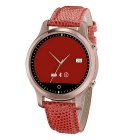 Circular Touch Screen Bluetooth V4.0 Smart Watch w/ Anti-Lost, Pedometer for Samsung / IPHONE - Red