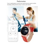 Circular BT V4.0 Smart Watch w/ Pedometer for Samsung, IPHONE - Red