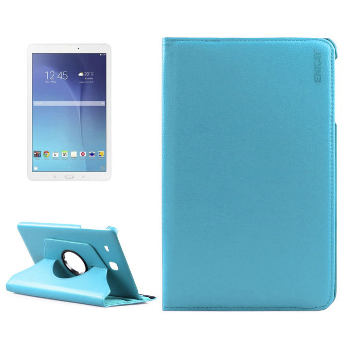 ENKAY Rotation Protective Case for Samsung Galaxy Tab E9.6 - Blue