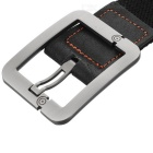 Casual Canvas Belt w/ Smooth Buckle - Black