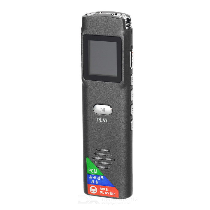 ruis afstand verminderen mini digitale voice recorder - ironie grijs (8GB)