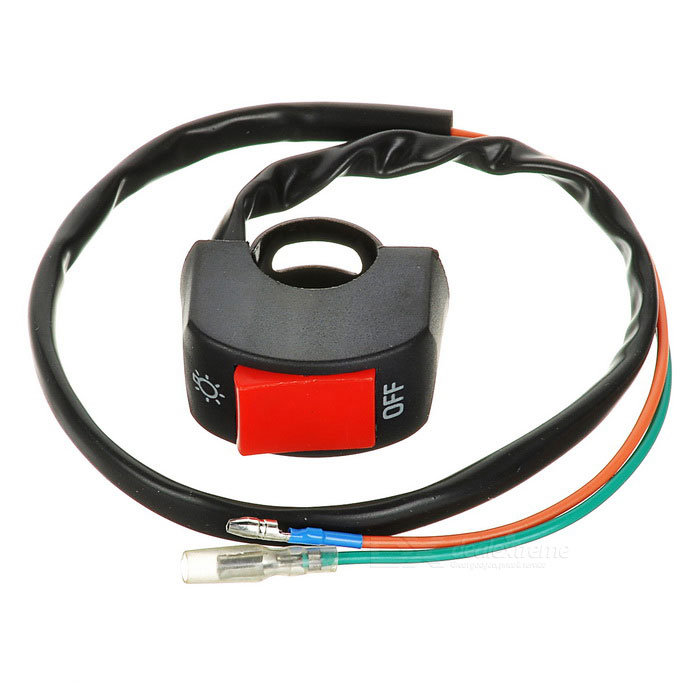 Handle Bar Switch for Motorcycle - Black + RedOthers<br>Form ColorBlack + RedQuantity1 DX.PCM.Model.AttributeModel.UnitMaterialABSTypeOthers,Double cable switchWaterproof FunctionNoInterfaceOthers,N/APacking List1 x Switch (60cm cable)<br>