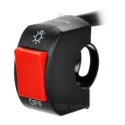 Handle Bar Switch for Motorcycle - Black + Red
