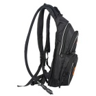 RidingTribe Motorcycle Backpack w/ Drinking Water Bladder Bag - Black