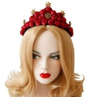 Stylish Roses Queen Crown for Valentines Day / Evening Parties - Red + Black