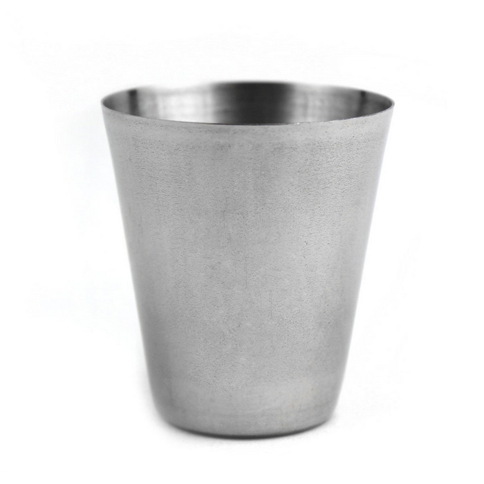 Stainless Steel Liquor Glass Cup - Silver (30 ml)
