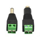 Jtron RCA Male / Female to Terminal Block Connectors Adapters - Black + Green (2PCS)