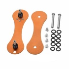 FURA Outdoor Aviation Aluminum Key Holder w/ Clip - Orange (2PCS)