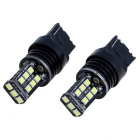 T20 4.5W LED Car Brake Lights White Light 6000K 330lm 15-SMD 2835 (12V / 2 PCS)