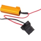 MZ T20 10W LED Car DRL / Rear Fog Light Orange + Ice Blue 42-SMD