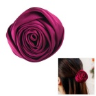 eQute Elegant Rose Dual Use Corsage Brooch - Purplish Red