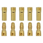 Aeromodelling Male / Female 3.5mm Banana Plugs - Gold
