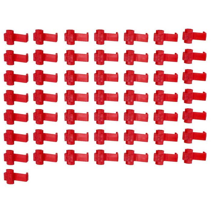 Quick Splice Wire Connectors / Wire Cable Clip Organizer - Red (50PCS)