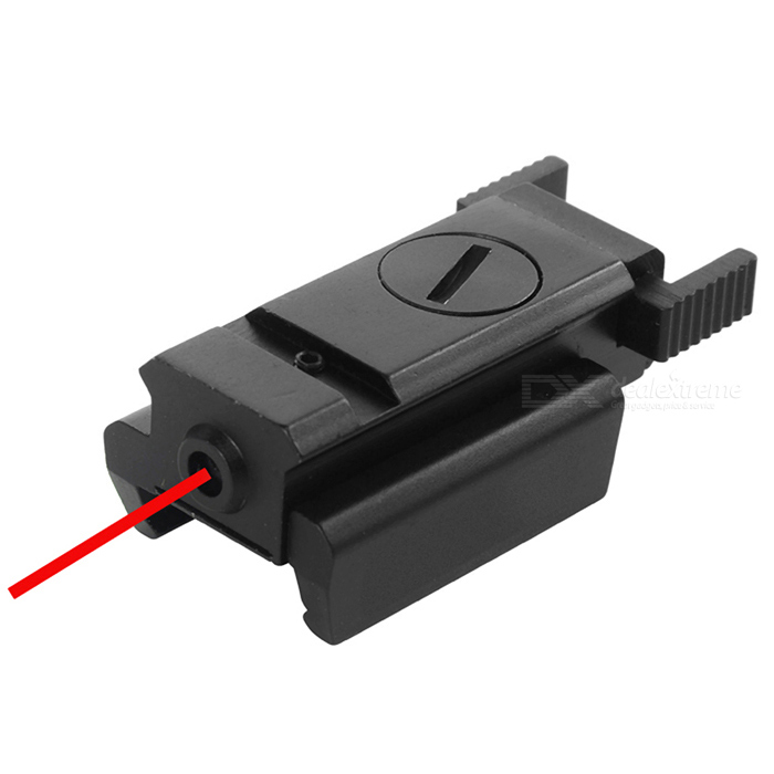 21mm Rail Mini Red Laser Sight Pistol Laser Pointer Sight - BlackGun Scopes &amp; Sights<br>Form ColorBlackMaterialAluminum alloyQuantity1 DX.PCM.Model.AttributeModel.UnitMount TypeWeaverLaser PowerLaser Wavelength635~655nmLaser Reaching Range50~100 meters (daytime) / within 500 meters (night)Laser ColorRedPacking List1 x Laser sight2 x LR44 batteries 2 x Wrenches<br>