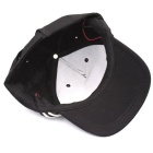 LED White Lighting Cotton Baseball Cap - Black + White