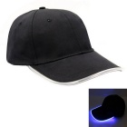 Blue Lighting Baseball LED Cap - Black + Blue