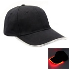 Red Lighting Baseball LED Cap - Black + Red