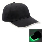 Green Lighting Baseball LED Cap - Black + Green