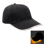 Yellow Lighting Baseball LED Cap - Black + Yellow