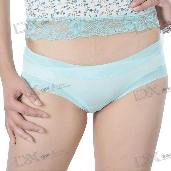 DCGIRL Low-Rider Lingerie Underpants - Blue (Size-F)