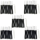 5 x 9-Piece Lock Picks Set w/ L-Shape Quick-Picking Tools - Black + Silver