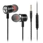 Mosidum MSD-M30 3.5mm In-Ear Earphones w/ Mic. - Black (105 cable)