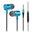 Mosidum MSD-M30 3.5mm In-Ear Earphones w/ Mic. / Clip - Blue (105 cable)