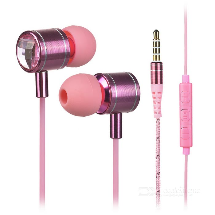 Mosidum MSD-M30 3.5mm In-Ear Earphones w/ Mic. / Clip - Pink