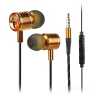 Mosidum MSD-M30 3.5mm In-Ear Earphones w/ Mic. / Clip - Black + Gold (105 cable)