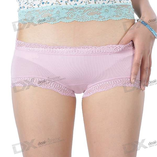 DCGIRL Low-Rider Lingerie Underpants with Lace - Color Assorted (Size-F)