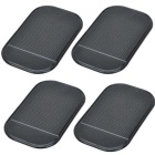 PU Car Anti-Slip Non-Slip Pad Mat - Black (4PCS)
