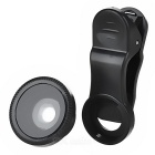 Universal 0.67x Wide-Angle + Macro Clip-on Camera Lens - Black (2 PCS)