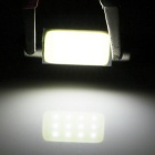 Festoon 39mm 2.5W 80lm White 12-COB LED Car License Plate Light (Pair)