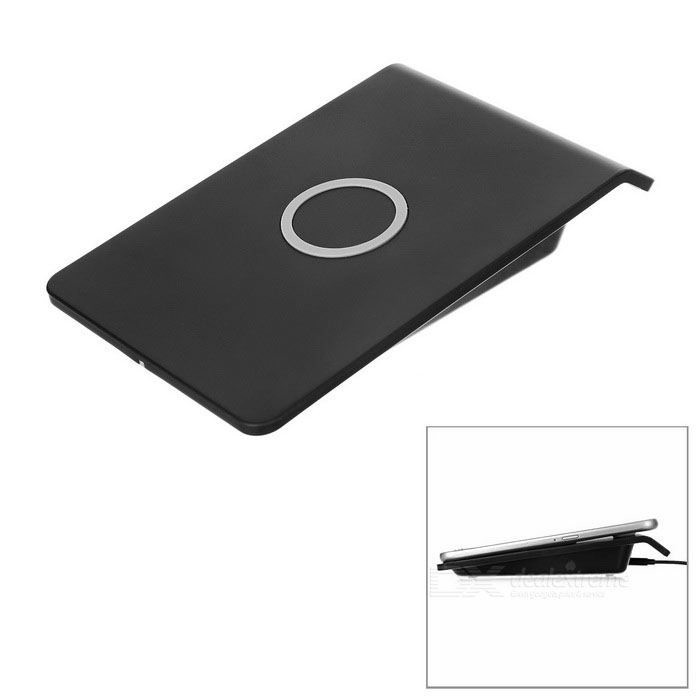 Cwxuan Qi Wireless Transmitter Charger + USB Charging Cable - Black