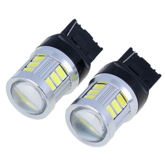 T20 9W 700lm 6000K 18-5730 SMD LED White Light Car Brake Light (2PCS)