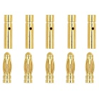 Aeromodelling Male / Female 4mm Banana Plug - Gold