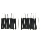 Advanced 9-Piece Set Lock Picks w/ L Shape Quick-Picking Lock Pick Tool