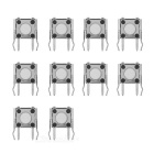LB / RB Small Buttons for XBOX 360 Controller - Black + Silver (10 PCS)