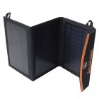 10W Dual Output Foldable Portable Solar Panel Charger - Black + Orange