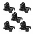 Rotatable Mount Base Adapter Buckle for GoPro Hero 4 Session / Hero 4 / 3+ / 3 / 2 / 1 (5pcs)