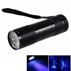 KINFIRE UV Light 9-LED 400nm Purple Light Flashlight Money Detector Light - Black (4.5V)