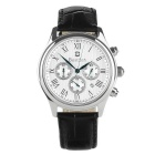 BESTDON BD9917G Men's Roman Numerals Waterproof Quartz Watch w/ Calendar / 3 Small Dials - White