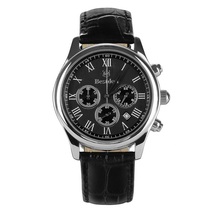 BESTDON BD9917G Men's Roman Numerals Watch w/ Calendar - Black