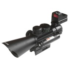4*30mm Zooming 5mW Red Laser Tactical Rifle Scope - Black