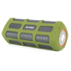 SLANG 6W Super Bass Stereo Bluetooth V3.0 5200mAh Rechargeable Speaker w / AUX / USB - Armee-Grün