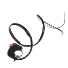 Motorcycle DIY Accessory Handle Bar Mount 3-Wire Switch - Black + Red